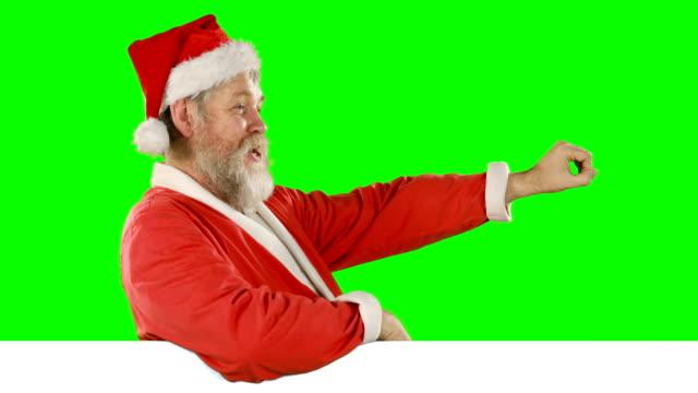 Retrato-de-feliz-canción-de-canto-de-Papá-Noel