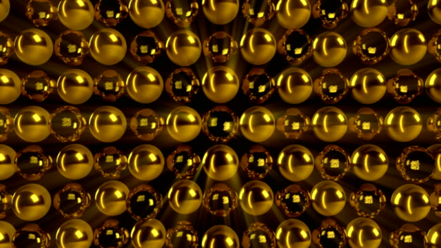 Abstract-gold-sphere-Seamless-loop