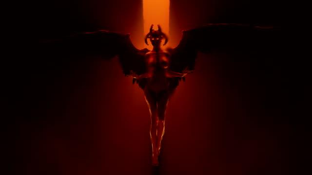 Diablo-mujer-flotando-en-un-infierno-ardiente