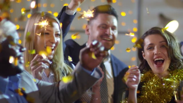 Businesspeople-Dancing-at-Office-Christmas-Party