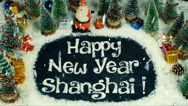 Stop-motion-animation-of-Happy-New-Year-Shanghai