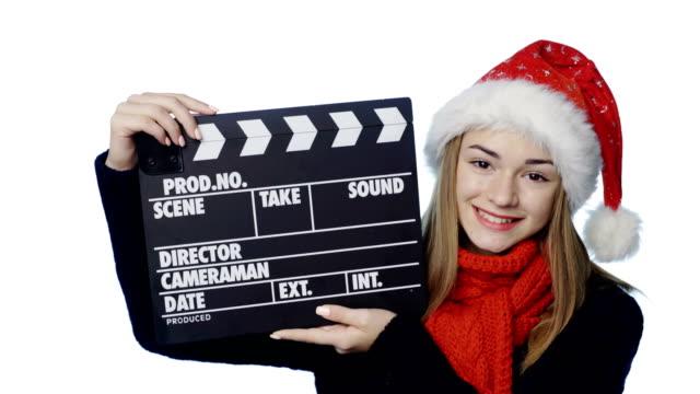 Girl-in-Santa-hat
