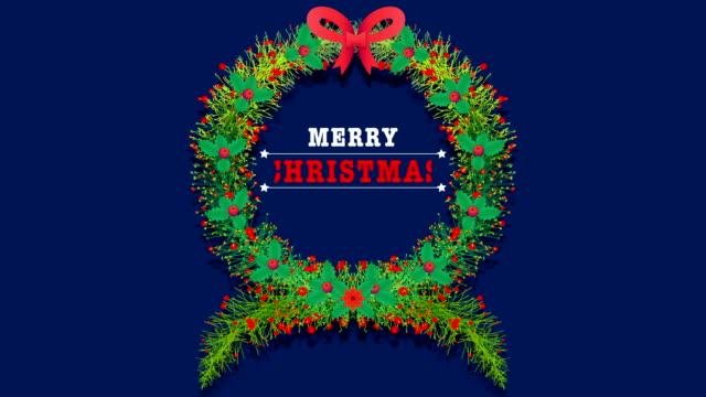 ¡Feliz-Navidad-Crecimiento-orgánico-hojas-y-flores-Tarjetas-de-saludos-animadas
