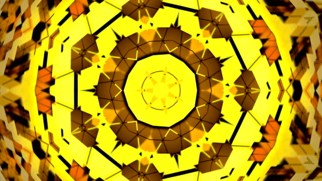 Abstract-background-with-gold-kaleidoscope