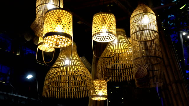 Thai-traditional-lamp-made-from-bamboo