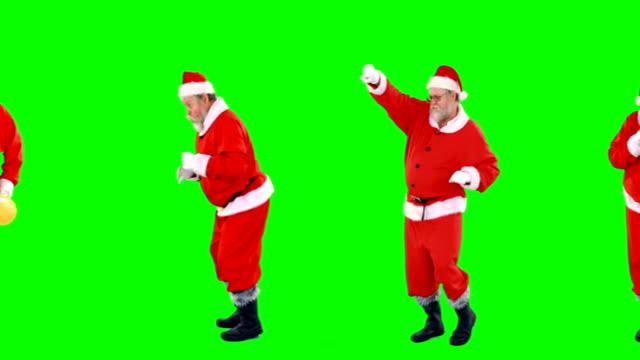 Santa-claus-dancing-and-performing-various-activity