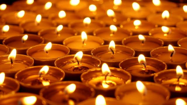 Small-candles-Close-up-shot-
