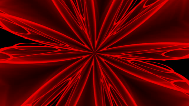 Abstract-red-background-Digital-kaleidoscope-3d-rendering