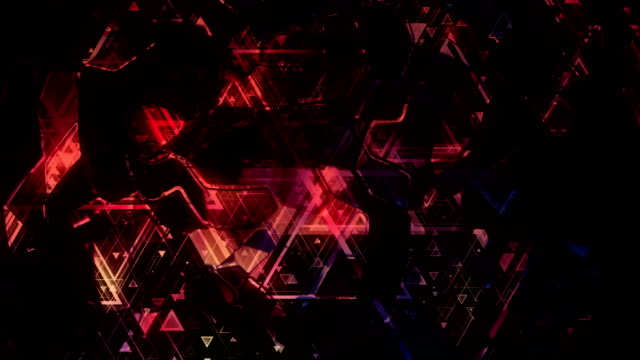 Fondo-animado-pulsante-luminoso-basado-en-formas-geométricas-de-color-de-diferentes-tamaños-Bucle