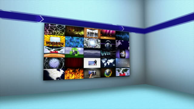 Monitors-in-Room-Technology-Concepts-with-Green-Screen-4k
