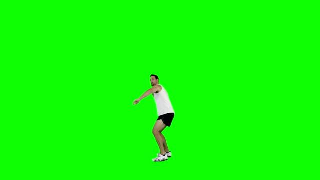 Athlete-man-practising-javelin-throwing