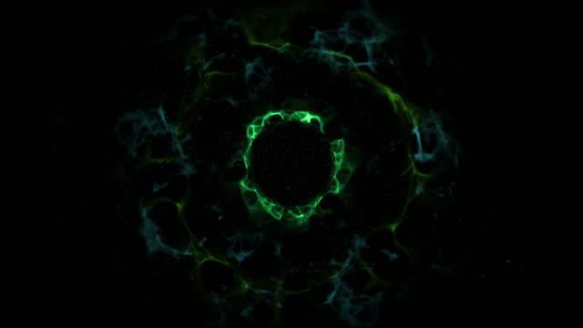 4-k-ordenador-genera-efectos-visuales-animación-de-explosión-de-color-de-la-onda-de-choque