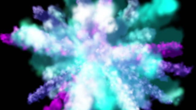 Colorful-smoke-particles-explosion
