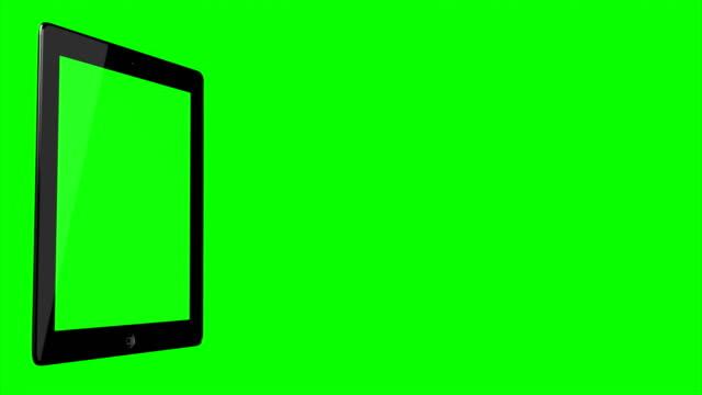 4K-video-Digital-Tablet-Green-background-green-screen-chroma-key