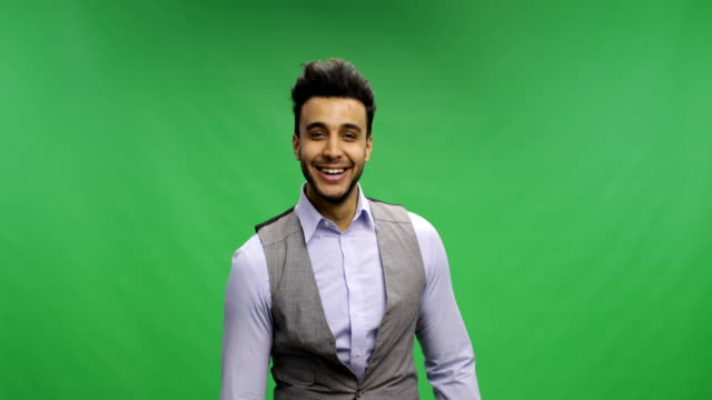 Businessman-Hold-Thumbs-Up-Happy-Smiling-Portrait-Young-Cheerful-Business-Man-Over-Chroma-Key-Green-Screen