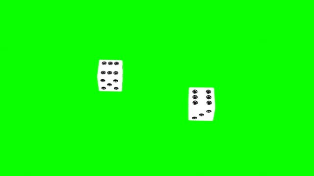 Backgammon-Dices-Two-Sixes-(Green-Screen-No-Shadows)