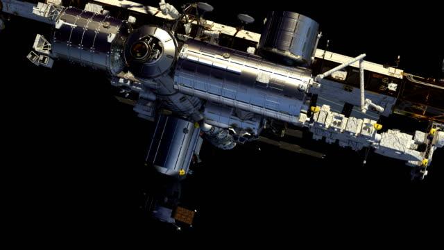 4K-Flight-Of-International-Space-Station-Alpha-Channel-