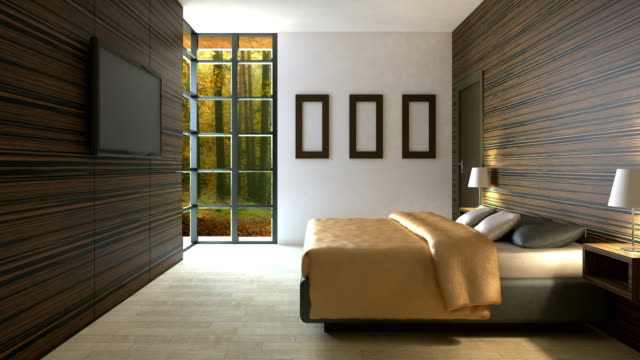 4k-Trendy-bedroom-in-classical-style-with-a-large-comfortable-bed-