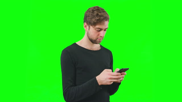Green-Screen-Man-Touch-Screen-Phone