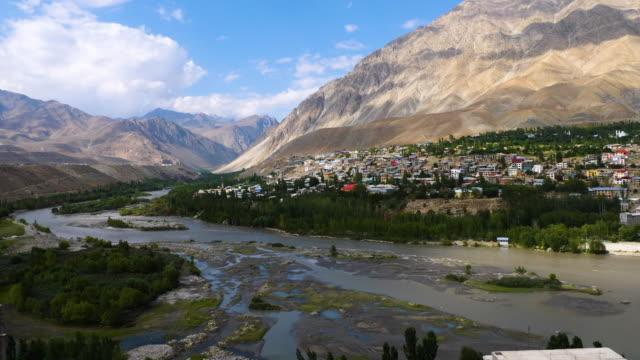 Cityscape-of-Kargil-in-Ladakh-India-