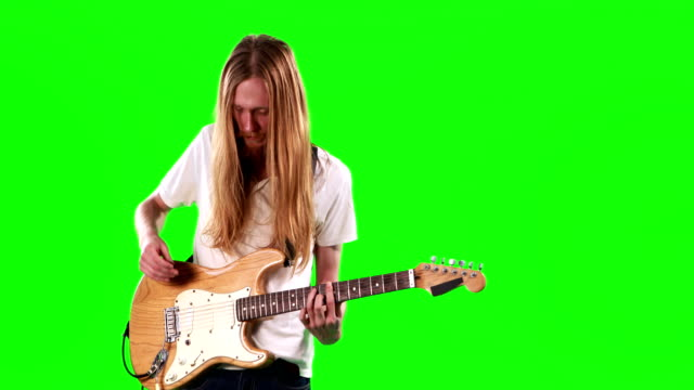 Guitarist-playing-electric-guitar