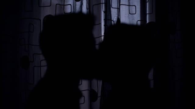 Silhouette-of-gay-men-kissing-tenderly