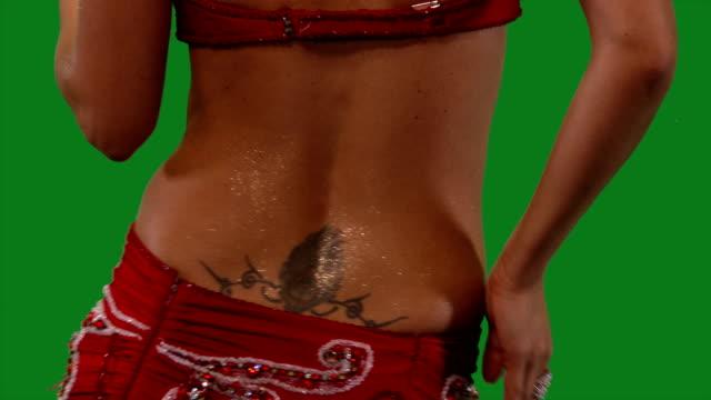 Dancer-Belly-dance-Belly-dancer-dancing-Green-screen-Bust-red-sexy-CU