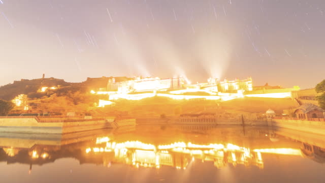 Amber-fort-light-show-and-star-trail-time-lapse-video-clip-India