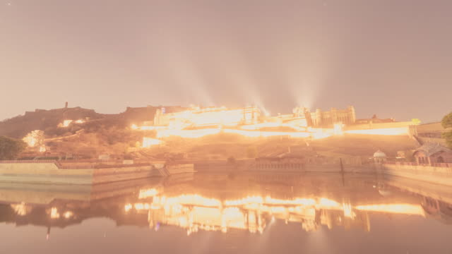Amber-fort-light-show-time-lapse-video-clip-India