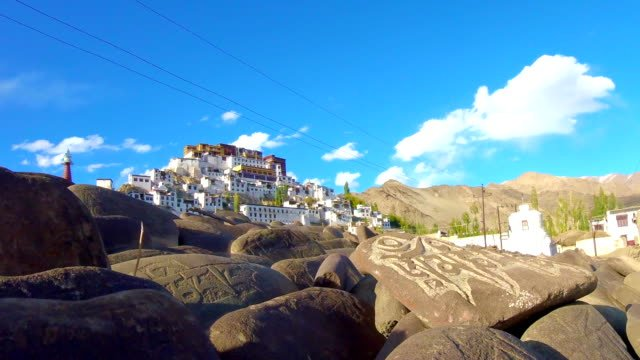 Time-Lapse-Thikse-Monastery-Leh-Ladakh-India