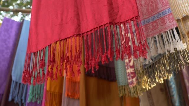Hanging-Colored-Fabric