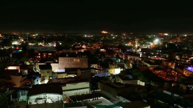 Night-time-lapse-at-Jodhpur-Rajasthan-India-