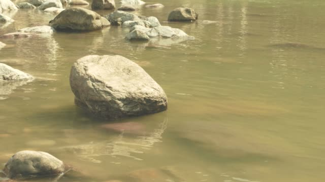 The-Ganges-River-flowing-quietly-at-Rishikesh-India