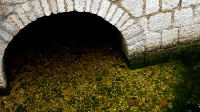 Zanja-con-agua-alrededor-del-edificio-Medios-antiguos-de-defensa