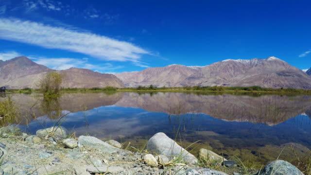 Time-Lapse-Shyok-River-In-Nubra-Valley-Leh-Ladakh---India
