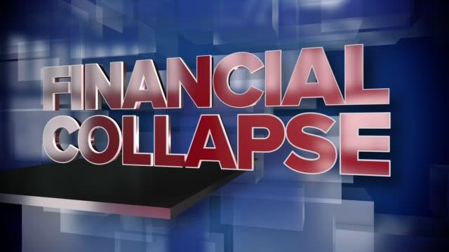 Dynamische-Finanzkollaps-Titelseite-Hintergrundplatte