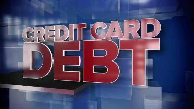 Dynamische-Kreditkarte-Schulden-Titelseite-Hintergrundplatte