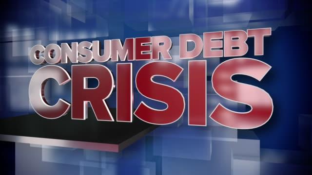 Dynamische-Verbraucherkredite-Krise-Titelseite-Hintergrundplatte