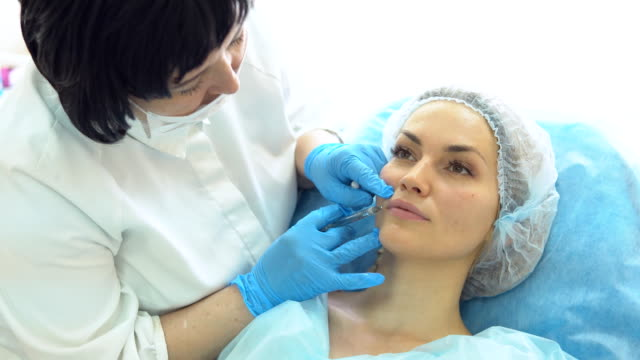 Doctor---beautician-holds-reception