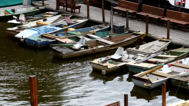 Czech-Republic-Prague-Old-Small-Boats-Parked-in-the-Dock