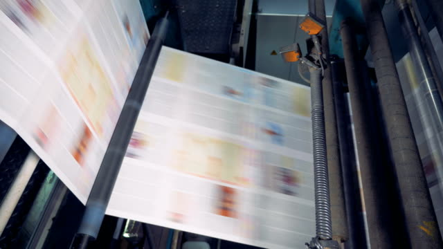 Printing-machine-in-action-Print-shop-typography-machine-close-up-view