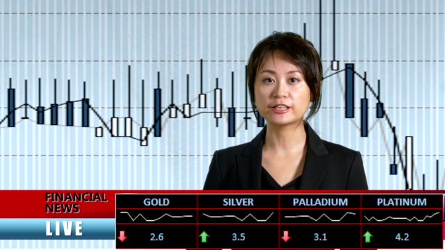 News-anchor-presenting-financial-news-from-TV-studio