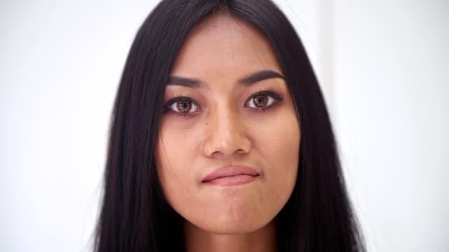 Woman-portrait-Angry-Asian-woman-portrait-