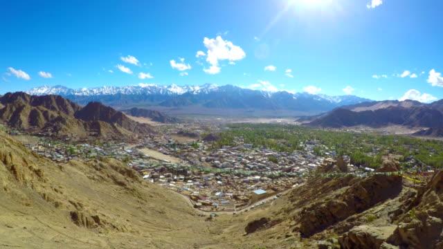 Time-Lapse-Aerial-Leh-Ladakh-Town-India
