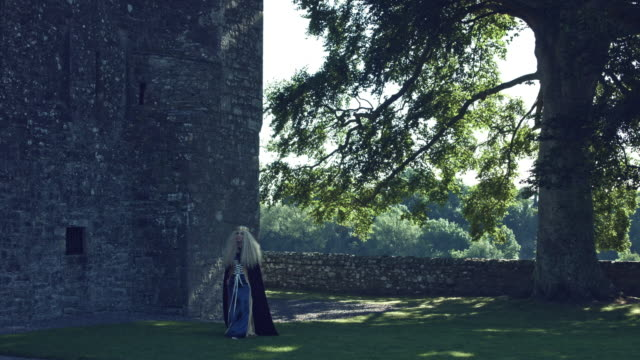 4k-Medieval-Shot-of-Style-Queen-Posing-in-Castle