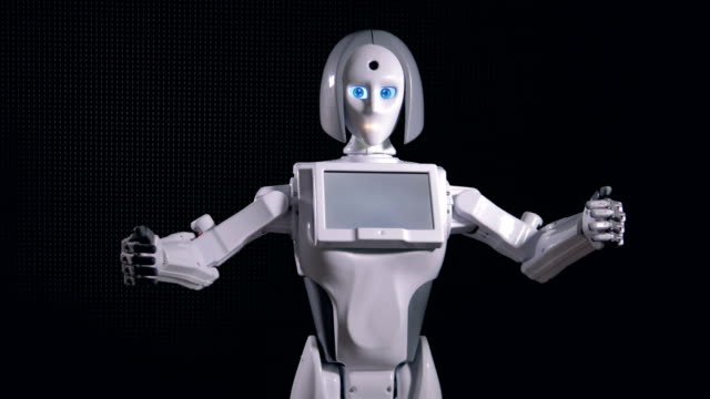 Robot-attracts-attentions-with-wide-arm-movements-4K-