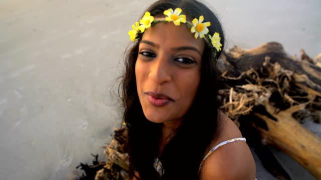 Portrait-of-Indian-American-woman-wearing-Boho-sundress