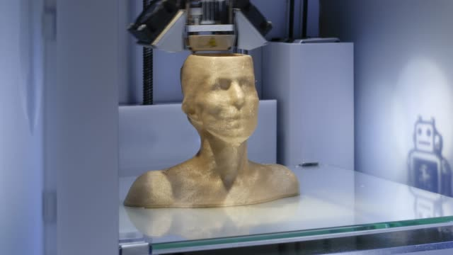 Working-3D-printer-printing-a-human-bust---symbol-for-artificial-intelligence