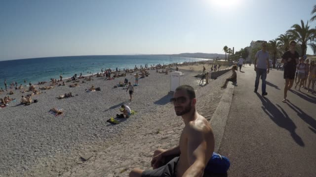 Young-Traveller-Taking-a-Selfie-in-French-Riviera-France