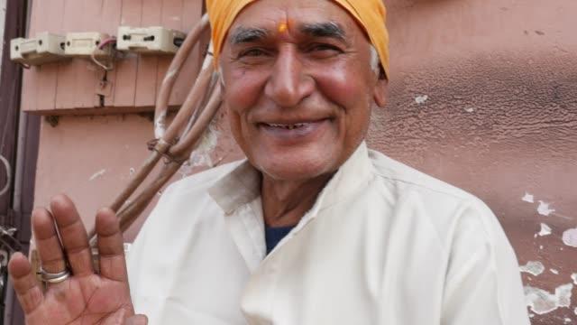 Retratos-de-gente-Real-India-hombre-Senior